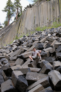 Sitting at Devils Post Pile